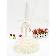 Elegant Champagne Feather Cake Shape Guest Pen Set(Pen & Pen Holder) Sign In Book