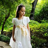 아이들은 새틴 / 폴리 에스테르 파티 / 캐주얼 패션 달콤한 나비 볼레로 흰색 볼레로 어깨를 으쓱 랩
