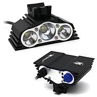 Lanternas de Cabeça Kits de Lanternas Lâmpadas LED LED 7500 Lumens 4.0 Modo XM-L2 T6 18650.0 Impermeável Campismo / Escursão /