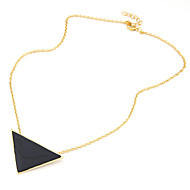 Women's European Style Fashion Small Triangle Alloy Necklace
