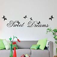 Doce sonho de sala de estar decalques citações decoração da parede diy zooyoo2002 removíveis adesivos de parede de PVC de decoração para