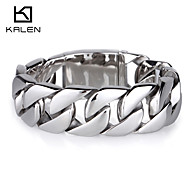 Kalen Men's Jewelry Heavy Tribal Ethnic Stainless Steel Bracelet with Shiny Surface Christmas Gifts