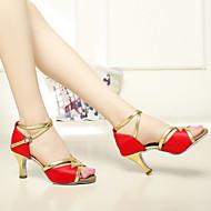 """Scarpe da ballo - Disponibile """"su misura"""" - Donna - Latinoamericano / Salsa - Customized Heel - Satin / Paillettes -Nero / Blu / Marrone"""