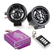 Waterproof Motorcycle Audio Remote Sound System TF Card MP3 FM Radio Black
