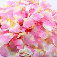 Set of 100 Three Color Color-Changing Petals Rose Petals Table Decoration(Pink+White+Yellow)