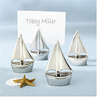 segnaposti e titolari 4 pezzi supporti di carta d'argento posto vela (set di 4)