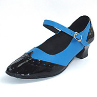 Ženske - Plesne cipele - Šivanje Cipele / Standardne cipele - Koža / Vještačka koža - Masivnijom Heel - Plav / crven / bijel / Drugo
