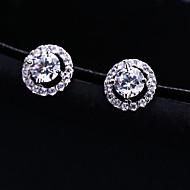 Gorgeous Alloy with Clear Crystals Rhinestones Fashion Earrings Ear Stud Wedding Bridal Earrings (with Gift Box)