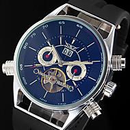 WINNER® Men's Auto-Mechanical Skeleton Silicone Strap Luxury Watch Cool Watch Unique Watch Fashion Watch