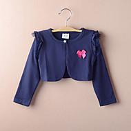 아이들은 긴 소매 레이스 / 폴리 에스테르 파티 / 캐주얼 패션 볼레로 진한 파란색 볼레로 어깨를 으쓱 랩