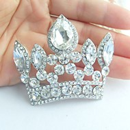 Wedding Accessories Silver-tone Clear Rhinestone Crystal Crown Brooch Art Deco Crystal Brooch Bouquet Women Jewelry