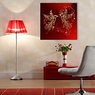 e-FOYER étiré conduit art de toile d'impression phoenix oiseau LED clignotante impression de fibre optique
