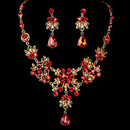 Women's Alloy Wedding/Party Jewelry Set With Rhinestone(Inculding Necklace & Earrings)