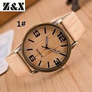 Women's Fashion Wood Grain Four Digital Quartz Analog Denim Cloth Band Wrist Watch(Assorted Colors) Cool Watches Unique Watches