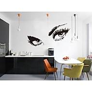 Free Shipping Hepburns Eyes Vinyl Wall Decals Zooyoo8024 Wall Sticker 80*150cm Waterproof Windows Home Decorations