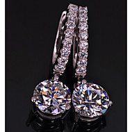 Sterling 925 Silver Engagement Dangle Earrings Paved Setting 1CT/Piece SONA Simulate Diamond Earrings for Women Wedding