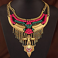Women's European Style Fashion Metal Shining Necklace With Rhinestone