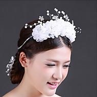 Bride Wedding White Mesh Diamond Noble Headdress