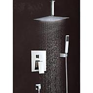 """8""""Modern Rain Shower Faucet Set Valve Mixer Tap Hand Sprayer Wall Mount"""