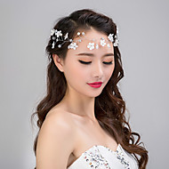 Serre-tête/Fleurs/Chaîne pour Cheveux/Couronnes Casque Mariage/Occasion spéciale/Casual/Outdoor Dentelle/Imitation de perle/Mousseline