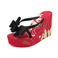 Women's Shoes  Wedge Heel Wedges/Platform/Open Toe Slippers Casual Black/Red/White