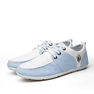 Men's Shoes Office & Career/Casual Canvas Fashion Sneakers Blue/Gray