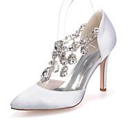 Mujer Zapatos de boda Puntiagudos Tacones Boda/Fiesta y Noche Negro/Azul/Rosa/Morado/Rojo/Marfil/Blanco/Plata/Champán