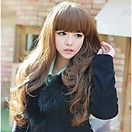 Frau lange Haare große gewellte Perücke drei Farben sind optional