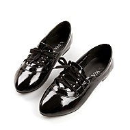 נעלי נשים - שטוחות - עור פטנט - שפיץ - שחור / ורוד / לבן - שטח / שמלה / קז'ואל - עקב שטוח
