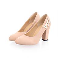 ( Svart/Blå/Rosa/Hvit/Beige ) Hæler/Rund tå - Pumps / høye hæler - Kunstlær - GIRL