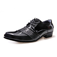 Men's Oxfords Office & Career/Party & Evening/Casual Fashion Patent Leather Shoes Black/White 38-43