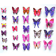 24pcs  3D Simulation Butterfly Wall Stickers Art Decals