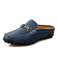 Men's Shoes Casual Leather Loafers White / Navy