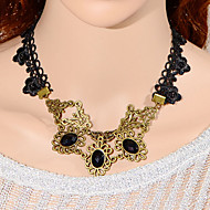 Fashion Three Gem  Necklace