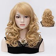 גברת גל טבעי בלונדינית צבע מקסים פאות פאות שיער סינטטי שיער יפה