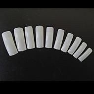 100ks přírodní poloviny krytu tipy pro francouzské akrylové nehty diy salon malování nail art dekorace