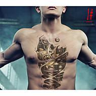 Tatuajes Adhesivos - Non Toxic/Modelo/Talla Grande/Parte Lumbar/Waterproof - Otros - Mujer/Hombre/Adulto/Juventud - Multicolor - Silicona