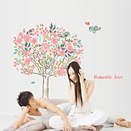 pegatinas de pared de estilo calcomanías de pared pegatinas amor flor del árbol de pvc