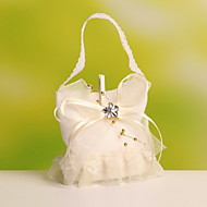 Geschenktaschen ( Gelb/Weiß , Organza ) - Nicht personalisiert - Hochzeit/Jubliläum/Brautparty