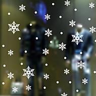 Wandaufkleber Wandtattoos Stil Weihnachtsschneeflocke-PVC-Wandaufkleber