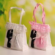 Geschenktaschen ( Rosa/Weiß , Vließstoff ) - Nicht personalisiert - Hochzeit/Jubliläum/Brautparty