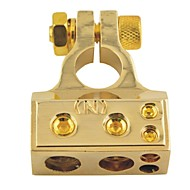 D003 Car Auto Metal Screw Straight Type Battery Terminals Negative Clamps-Gold(1pcs)