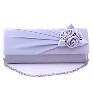 Women Silk Formal / Event/Party / Wedding / Office & Career Evening Bag White / Purple / Blue / Green / Red / Silver / Black