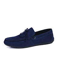 Men's Shoes Office & Career/Casual Suede Loafers Black/Blue/Gray
