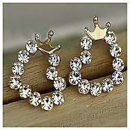 Set Auger Sweet Little Love Crown Fresh Joker Stud Earrings