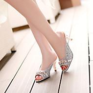 נעלי נשים - סנדלים / כפכפים - דמוי עור - פתוח - כסוף / זהב - שמלה - עקב גביע