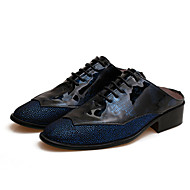 Men's Shoes Office & Career/Casual & Mules Black/Blue/Yellow/Red