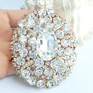 Wedding Accessories Gold-tone Clear Rhinestone Crystal Bridal Brooch Wedding Deco Flower Wedding Brooch Bridal Bouquet