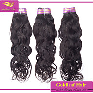 3pcs / lot brasilianisches reines Haar natürlichen schwarzen natürlichen Welle