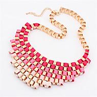 Gradient Color Metal Short Necklace(5 color)(1Pc)